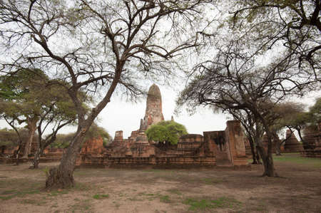 Old Temple Architecture, Ayutthaya, Thailand, World Heritage Site