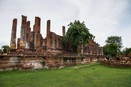 Ancient of Thailand. (Ayutthaya) Stock Photo