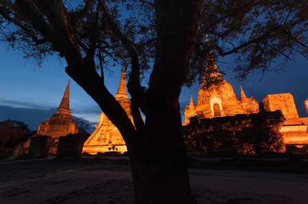 Old Temple Architecture , Wat Phra si sanphet at Ayutthaya, Thailand