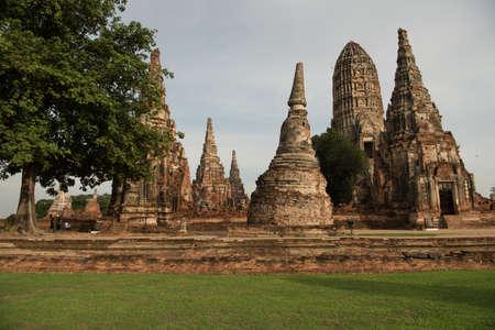 Wat chaiwattanaram temple at Ayutthaya Historical Park , In Thailand