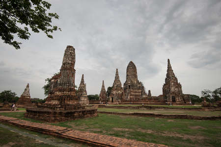 Old Temple Architecture,  at Ayutthaya, Thailand, World Heritage Site Stock Photo