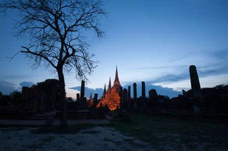 Ayutthaya Historical Park, Phra Nakhon Si Ayutthaya. Temple Pagoda in Ayutthaya of Thailand
