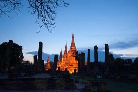phra nakhon si ayutthaya: Ayutthaya Historical Park, Phra Nakhon Si Ayutthaya. Temple Pagoda in Ayutthaya of Thailand