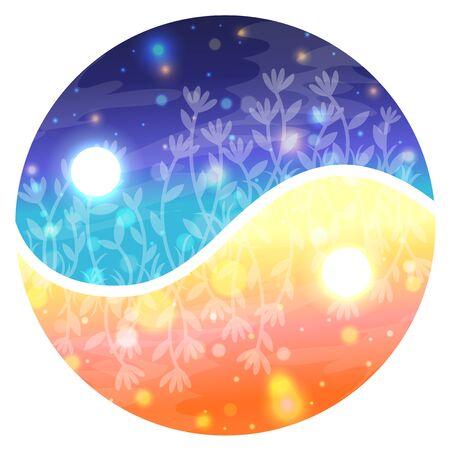 night: night and day circle