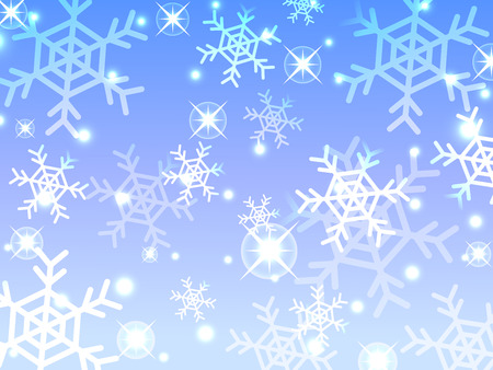 snow flake winter abstract background
