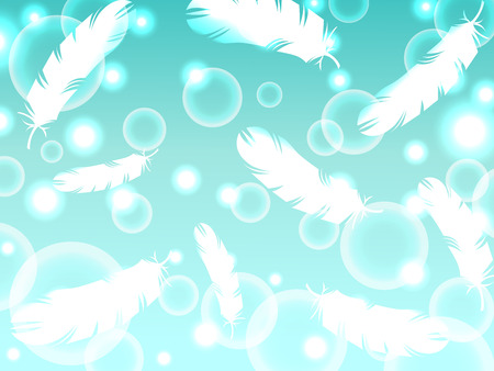 bird feather light fantasy abstract background