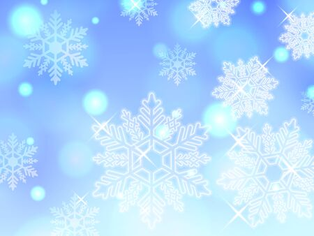 blue snowflake winter powder snow illustration background vector