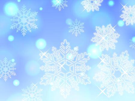 powder snow: blue snowflake winter powder snow illustration background vector