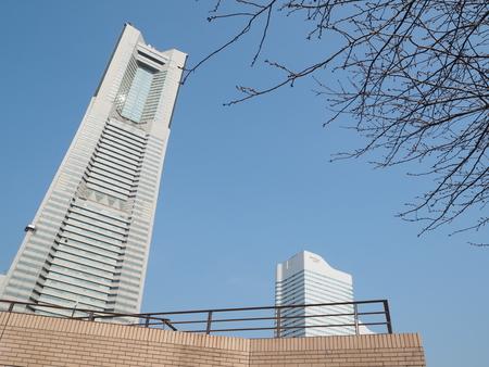 yokohama landmark tower japan photograph in winter 報道画像