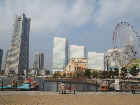 yokohama landmark tower japan photograph in winter 報道画像