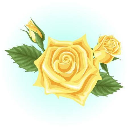 黄色のバラの花のイラスト 写真素材 - 60478681