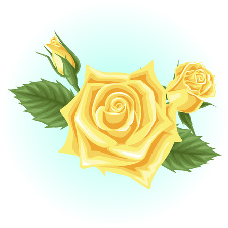 Rose fleur jaune illustration Banque d'images - 60478681