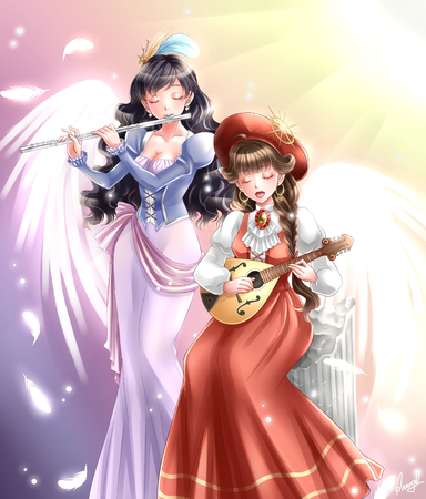 sound of heaven japanese anime manga style illustration
