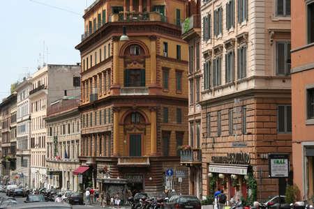 bustle: Rome city center Editorial