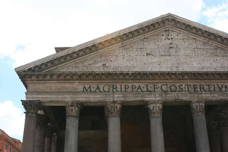 Italian Roman Ruins Stok Fotoğraf