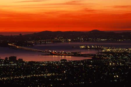 San Francisco 湾エリア ベイブリッジ 写真素材