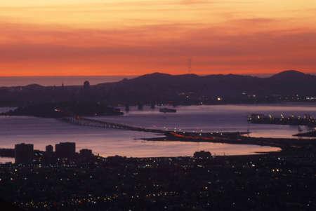 silicio: San Francisco Bay Area Puente de la Bah�a Foto de archivo