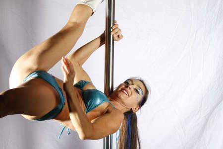acrobat gymnast: Pole Acrobat Stock Photo