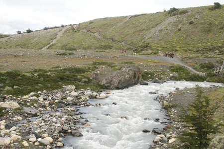 W Trek on Torres Del Paine Park Stock Photo - 17068822