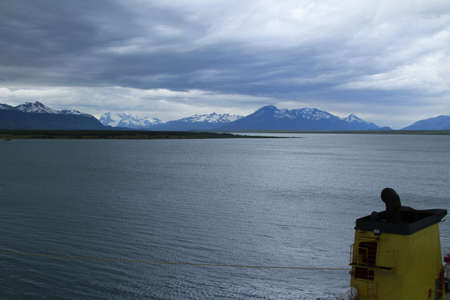 puerto natales: Ferry from Puerto Natales to Punto Montt Stock Photo