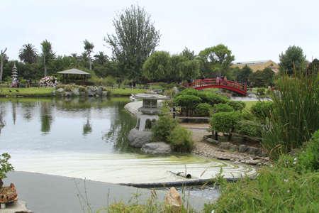 Los jardines japoneses en La Serena Chile Foto de archivo - 17949993