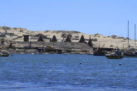 Beaches and harbour near Bahia Inglesia, Caldera, Chile Stock Photo
