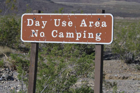 sierras: Day use camping sign
