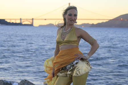 Belly Dancer outdoors