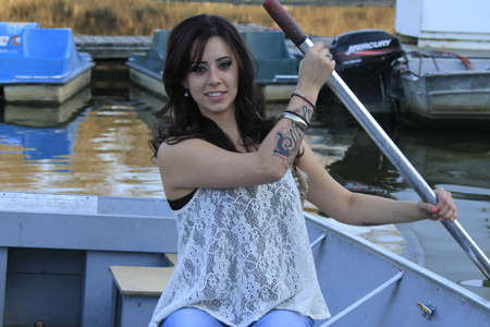 ボートの女の子
