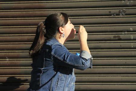 Photoshoot of an asian model Stock Photo - 25535099