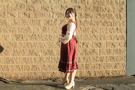 Photoshoot of an asian model Фото со стока