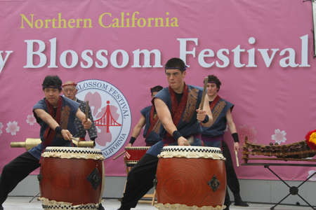 drumming: Cherry Blossom Festival - Taiko Drumming Editorial