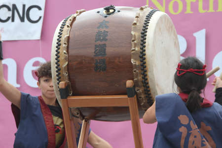 Cherry Blossom Festival - Taiko Drumming Editorial