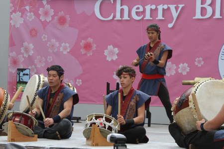 drumming: Cherry Blossom Festival - Taiko Drumming Editorial