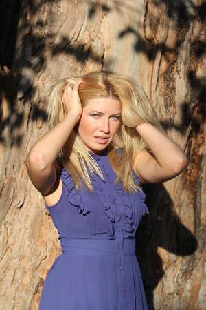 Pretty model in a park