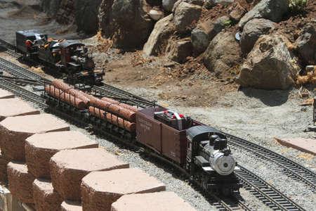 View of model railway, garden railway tour, Bay area, california, summer 2015