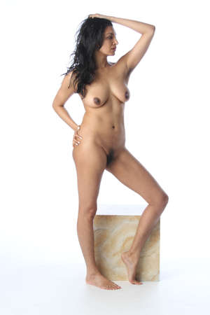 Photoshoot of a nude indian model