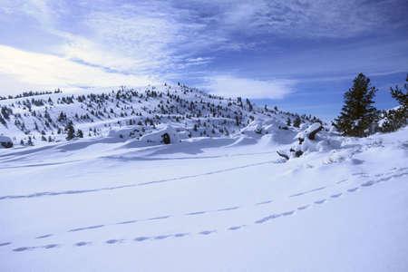 南アイダホ サンバレー、冬月のクレーター