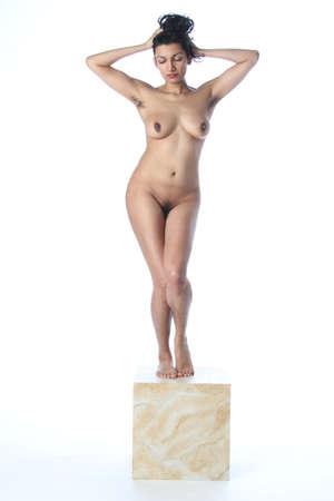 Photoshoot of a nude indian model Foto de archivo - 133357923