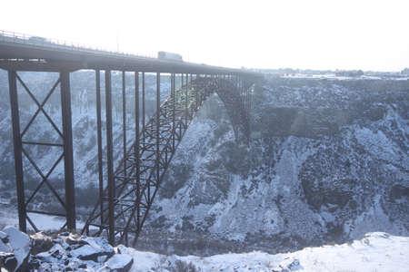 rapid steel: View of Perrine Bridge Idaho