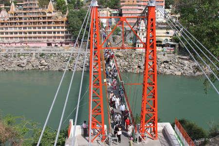 View of Rishikesh, India 新聞圖片
