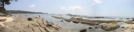 warm water: beaches at the andamans, white sand and warm water