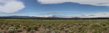 oregon  snow: View of Deschutes Wilderness, Bend Oregon Stock Photo