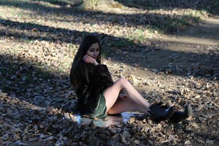 Middle Eastern girl in a park