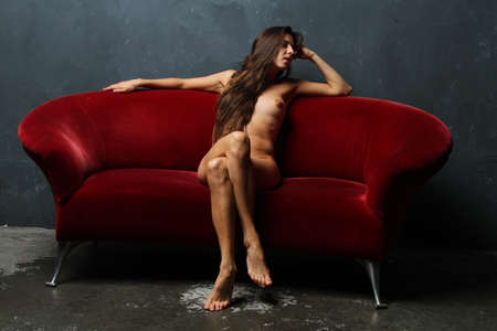View of a Nude female model