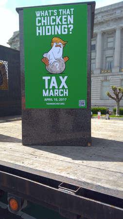 4132017: San Francisco, California: Trump tax day protest Editorial