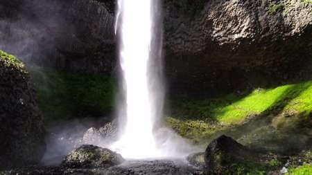 Vistas en watervallen. Stockfoto