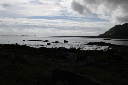 Lofoten peninsula, Norway, Mountains, lakes, and fjords Editorial
