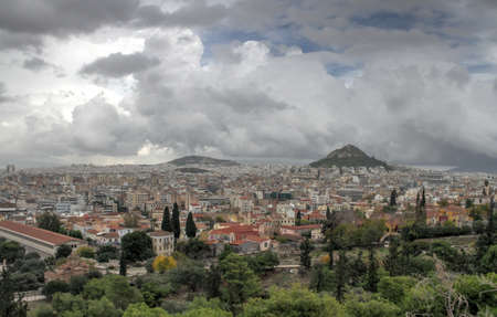 View from Acropolis, Greece Stock Photo