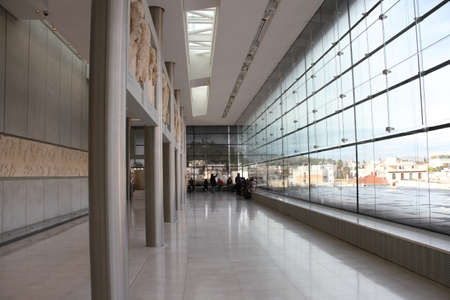 11152017: Athens, Greece: Acropolis museum, in Athens
